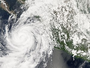 Hurricane Henriette (2007) - Henriette as a strong tropical storm to the west of Jalisco
