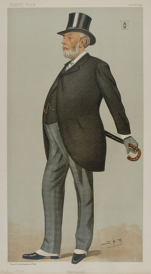 "Sir Henry Aubrey-Fletcher, 4th Baronet - ""Mid Sussex"" Fletcher as caricatured by Spy (Leslie Ward) in Vanity Fair, October 1898"