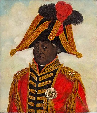 Henri Christophe - In this portrait executed by a German artist in the Royal Court, Henry wears the grand cross of the Royal and Military Order of St. Henry (Ordre Royal et Militaire de Saint Henry)