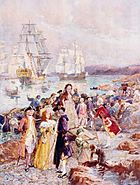 Henry Sandham - The Coming of the Loyalists
