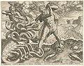 Hercules overwint de hydra van Lerna Werken van Hercules (serietitel), RP-P-1905-3926.jpg