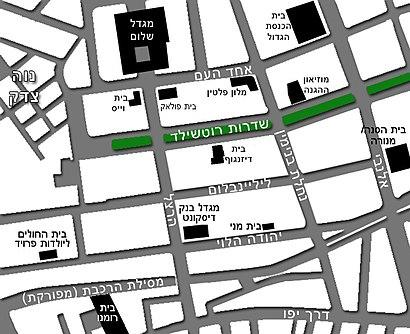 איך מגיעים באמצעות תחבורה ציבורית אל מגדל שלום מאיר? - מידע על המקום