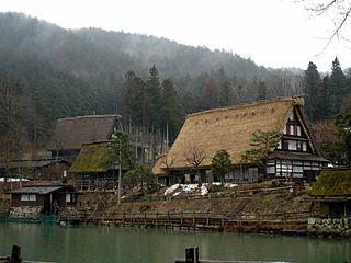 Hida Minzoku Mura Folk Village Folk Museum in Gifu Prefecture, Japan