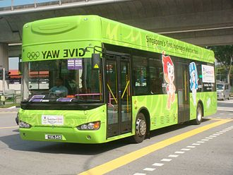 Higer Bus - Higer KLQ6129G during Youth Olympic Games 2010