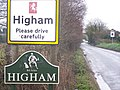 Higham Village Sign - geograph.org.uk - 1084470.jpg
