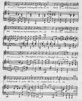 Himno Nacional Mexicano - Image: Himno mexicanos text 2