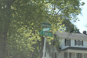 Historic district - Historic district street sign in Ypsilanti, Michigan