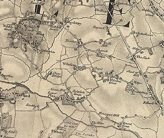 London Borough of Brent - A map of Brent in 1872, by John Marius Wilson