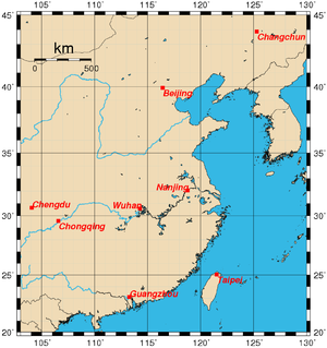 Historical capitals of China - Historical capitals of China from the 20th century onwards