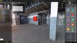 Holobuilder - User is capturing the progress on a construction site with a 360° Camera