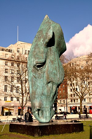 Horse at Water sculpture, Marble Arch, London