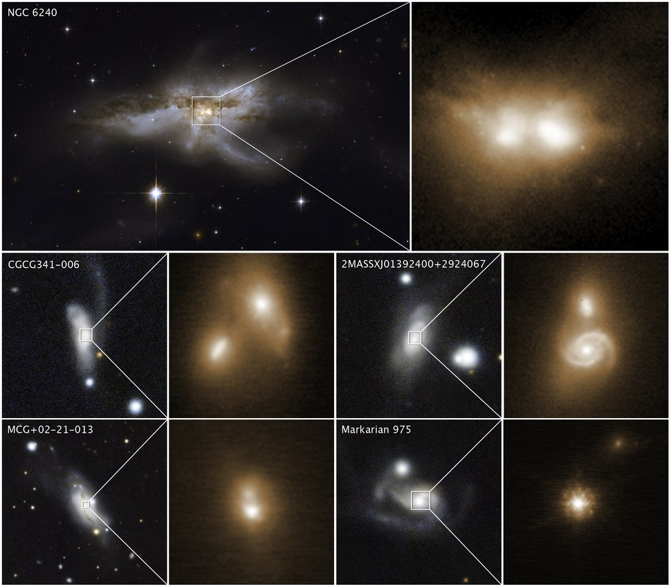 Hubble and Keck observatories uncover black holes coalescing