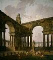 Hubert Robert - El Lugar de Aterrizaje - Instituto de Arte de Chicago - 1787-88.jpg