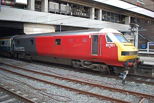 Driving Van Trailer - A Virgin Trains Mark 3 DVT at Birmingham New Street.