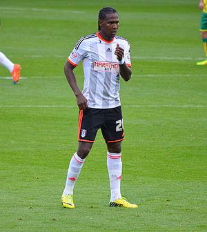 Hugo Rodallega - Rodallega playing for Fulham in October 2014