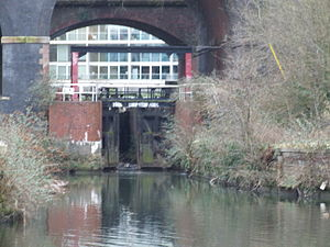 Hulme Locks Branch Canal - The Hulme Locks at the River Medlock and Irwell end