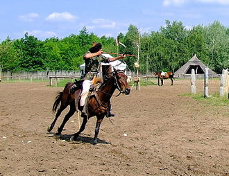 Mounted archery - Horse archer presentation in Hungary