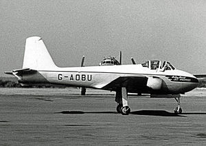Hunting Aircraft - Jet Provost T.1 prototype wearing the titles of Hunting Percival Aircraft in 1955