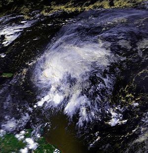 Hurricane Klaus - Image: Hurricane Klaus 05 oct 1990 1738Z