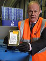 ID card database destroyed - Damian Green holds up part of the database.jpg