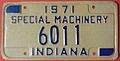 INDIANA 1971 -SPECIAL MACHINERY LICENSE PLATE - Flickr - woody1778a.jpg