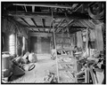 INTERIOR, LOOKING NORTHEAST - Baker-Booth Blacksmith Shop, Lear Hill Road, West of Route 10, Goshen, Sullivan County, NH HABS NH,10-GOSH,2-6.tif