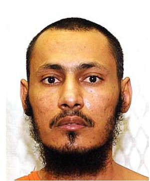 Mohammed Ali Abdullah Bwazir - Mohammed Ali Fowza's official Guantanamo identity portrait, showing him wearing the white uniform issued to compliant individuals.