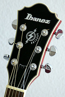 ibanez headstock from an artcore series guitar