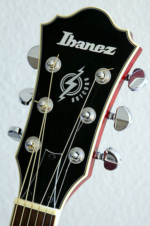 Headstock - Headstock from an ARTCORE series guitar by Ibanez