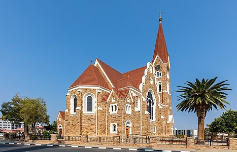 Christ church or Christuskirche, Windhoek, Namibia.
