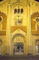 Il Duomo di S.Evasio la facciata in notturno.jpg