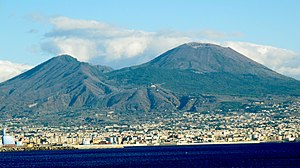 Vesuvius in 2012 as seen from the Gulf of Naples