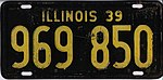 Illinois 1939 license plate - Number 969 850.jpg