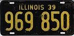 Illinois 1939 license plate - Number 969 850.jpg