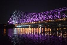 Illuminated Howrah Bridge - River Hooghly 2014-10-03 9369.JPG