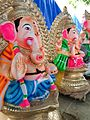 Images of Ganesh Chaturthi - A set of Ganesh idols made using Plaster of Paris.jpg