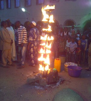 Osun-Osogbo - Ina Olojumerindinlogun, the sacred lamp lit at the beginning of the annual Osun-Osogbo festival