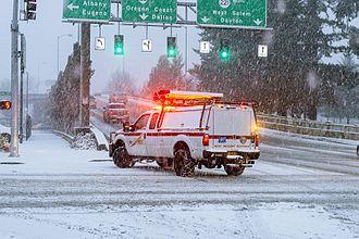 Oregon Department of Transportation - Incident response truck in Salem