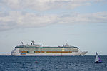 Independence of the Seas passing Calshot Spit light.JPG
