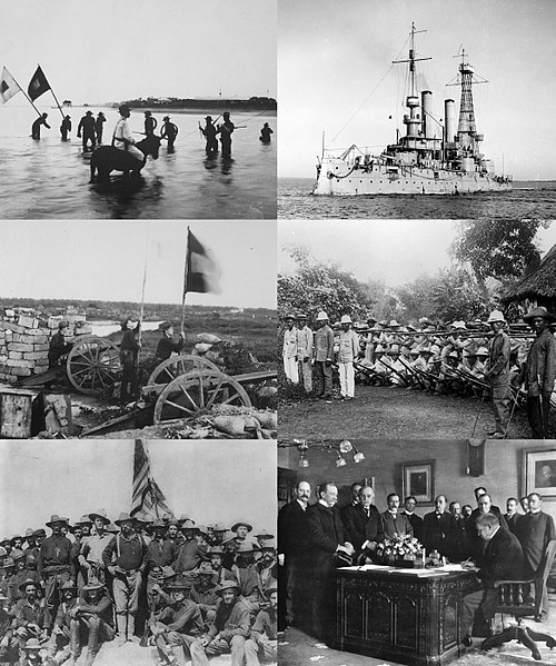 Spanish-American War Collage Wikipedia Image One