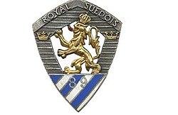 Insigne régimentaire du 89e Régiment d'Infanterie, Royal Suédois..jpg
