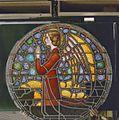Interieur. Detail glas-in-loodraam van Toorop bij glasatelier Wiegen - Nijmegen - 20337440 - RCE.jpg