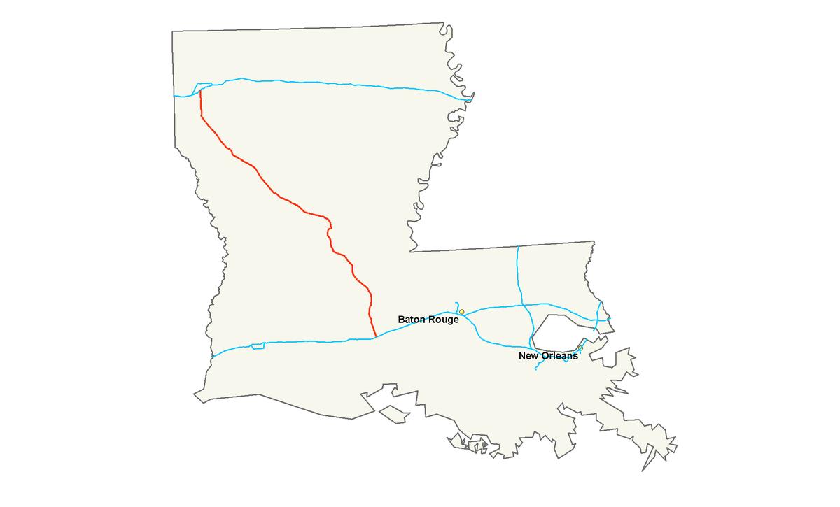 City Of Lafayette >> Interstate 49 — Wikipédia