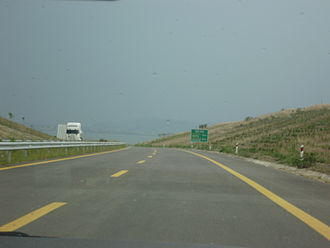 Motorway 5 (Greece) - Ionia Odos (southbound direction), just after the Kouvaras interchange