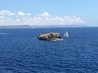 Islet as viewed by the Mgarr ix-Xini Tower.jpeg