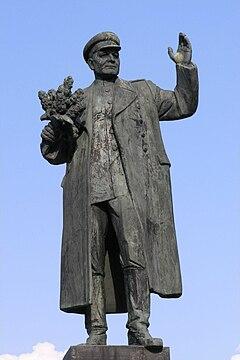 Socha Ivana Stěpanoviče Koněva na náměstí Interbrigády v Praze 6-Bubenči