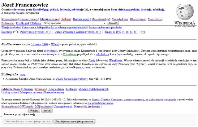 Filejózef Francuzowicz Polish Wikipedia Article Nostalgia