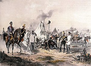 Joseph Heicke - Count Franz von Schlick on battlefield during the Hungarian Revolution of 1848