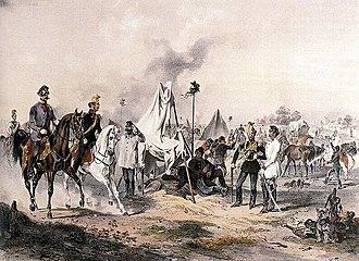 Joseph Heicke - Count Franz von Schlick on battlefield during the Hungarian Revolution of 1848