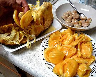 Cuisine of São Tomé and Príncipe - Image: Jackfruit Arils&Seeds